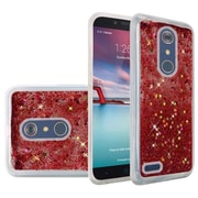 Insten Liquid Quicksand Glitter Fused Hybrid Hard PC/TPU Cover Case For ZTE N9136 - Rose Pink