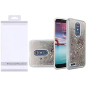 Insten Liquid Quicksand Glitter Fused Hybrid Hard PC/TPU Case with Package For ZTE N9136 - Silver