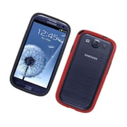Insten Rubber Bumper Case For Samsung Galaxy S3 - Black/Red