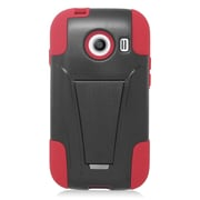 Insten Hard Hybrid Plastic 2-Layer Case with stand For Samsung Galaxy Ace Style - Red