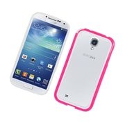 Insten TPU Bumper Case For Samsung Galaxy S4 - White/Hot Pink