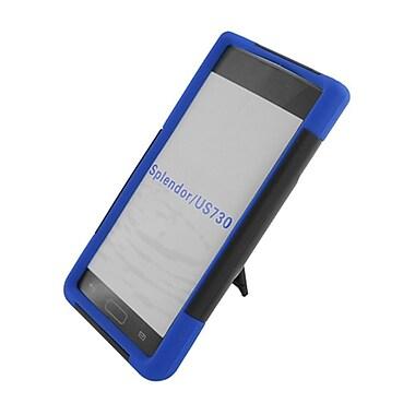 Insten Hard Hybrid Plastic Silicone Case with stand for LG Splendor US730 / Venice LG730 - Black/Blue