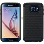 Insten Dots Hard Hybrid TPU Cover Case For Samsung Galaxy S6 - Black