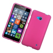 Insten Hard Rubberized Case For Microsoft Lumia 640 - Hot Pink