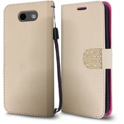 Insten PU Leather Bling Diamante MyJacket Wallet Card Flip Stand Case For Samsung Galaxy J3 (2017) - Rose Gold
