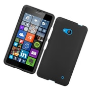Insten Hard Rubber Cover Case For Microsoft Lumia 640 - Black