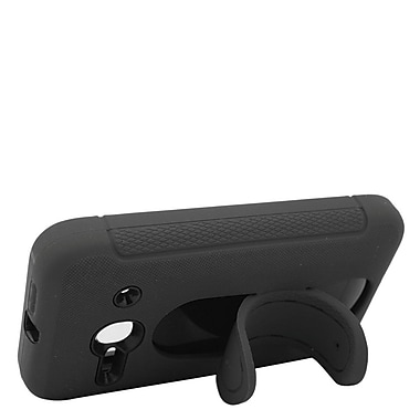 Insten Gel Dual Layer Rubber Hard Cover Case w/stand For Alcatel One Touch Evolve 2 - Black