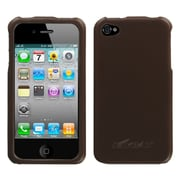 Insten Hard Rubber Coated Cover Case For Apple iPhone 4/4S - Brown