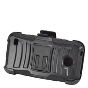 Insten Hard Hybrid Plastic Silicone Stand Case with Holster For Huawei Union - Black