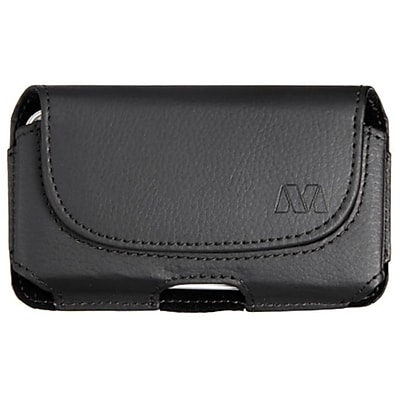Insten Black Horizontal Leather Pouch (304)(NO Package)