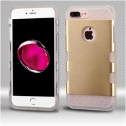 Insten Hard TPU Case For Apple iPhone 7 Plus - Gold/Clear