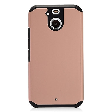 Insten Dual Layer Hybrid Rubberized Hard Silicone Shockproof Case Cover For HTC Bolt - Rose Gold/Black
