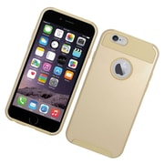 Insten Hard Dual Layer Rubberized Silicone Cover Case for iPhone 6 / 6s - Gold