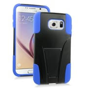 Insten Hard Dual Layer Plastic Silicone Case with stand For Samsung Galaxy S6 - Blue