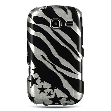 Insten For Samsung Freeform Iii / R380 Crystal Case Silver Zebra W/ Star