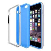 Insten Gel Hybrid Hard Case For Apple iPhone 6 / 6s - Blue/Silver