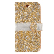 "Insten Book-Style Leather Bling Credit Card Case Pouch For Apple iPhone 7 Plus (5.5"") - Gold/White"