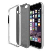 Insten TPU Dual Layer Hard Cover Case For Apple iPhone 6 / 6s - Gray/Silver