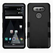 Insten Hard Hybrid Rubberized Silicone Cover Case For LG V20 - Black
