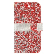 """Insten Folio Leather Diamante Cover Credit Card Case Pouch For Apple iPhone 7 Plus (5.5"""") - Red/White"""