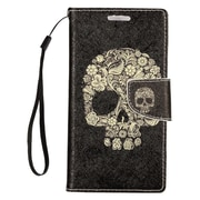 "Insten Skull Folio Leather Fabric Stand Card Case Lanyard w/Photo Display For Apple iPhone 7 Plus (5.5"") - Black/White"