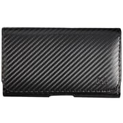 Insten Carbon Fiber Leather Fabric Horizontal Pouch Case w/Belt Clip For Samsung Galaxy Note 3 - Black
