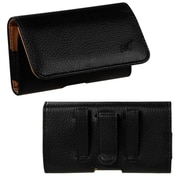 Insten Black/Brown Textured Horizontal Pouch