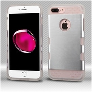 Insten Hard TPU Cover Case For Apple iPhone 7 Plus - Silver/Clear