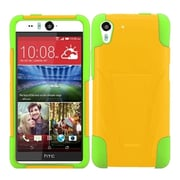Insten Hard Dual Layer Silicone Cover Case w/stand For HTC Desire Eye - Yellow/Green