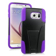 Insten Hard Hybrid Plastic 2-Layer Case with stand For Samsung Galaxy S6 - Purple