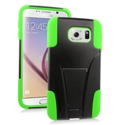 Insten Hard Hybrid Plastic 2-Layer Case with stand For Samsung Galaxy S6 - Green