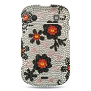 Insten Hard Diamante Case For BlackBerry Bold Touch 9900/9930 - Silver/Black