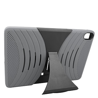 Insten Wave Symbiosis Rubber Hybrid Hard Cover Case Stand for HTC Google Nexus 9 - Gray/Black
