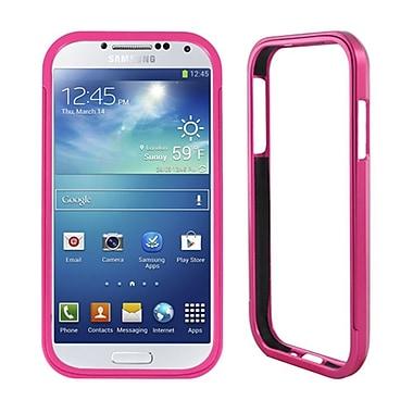 Insten Aluminum Metallic Bumper Case For Samsung Galaxy S4 - Hot Pink