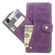 Insten Folio Leather Furry Cover Case Pocket wallet w/stand/card holder For Samsung Galaxy Note 5 - Purple