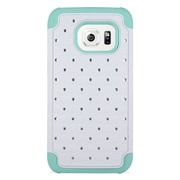 Insten Hard Dual Layer Silicone Case For Samsung Galaxy S7 - White/Mint