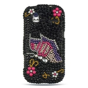 Insten Hard 3D Diamante Cover Case For HTC Amaze 4G - Black/Pink