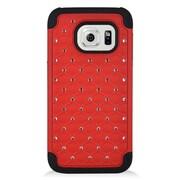Insten Hard Hybrid Silicone Case For Samsung Galaxy S7 - Red/Black