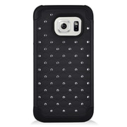 Insten Hard Hybrid Silicone Cover Case For Samsung Galaxy S7 - Black
