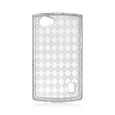 Insten Checker TPU Case For LG Optimus M+ - Clear