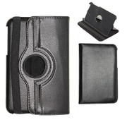 Insten Black 360 Degree Rotating Multi Angle Stand PU Leather Case Cover For Samsung Galaxy Tab 3 7.0