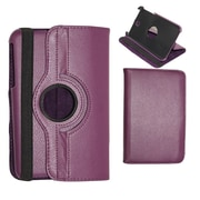 Insten Purple 360 Degree Rotating PU Leather Stand Case Cover For Samsung Galaxy Tab 3 7.0