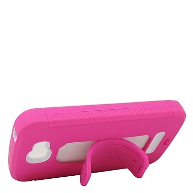 Insten Soft Dual Layer Rubber Hard Case For Alcatel One Touch Fierce 2 7040T/Pop Icon - Pink