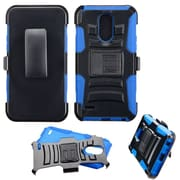 Insten Advanced Armor Stand Hybrid Dual Layer Case with Holster Clip For LG Stylo 3 - Black/Blue