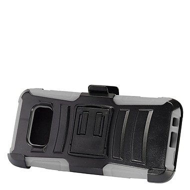 Insten Hybrid Armor Stand Dual Layer Case with Holster Clip For Samsung Galaxy S8 - Grey