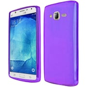 Insten Frosted Gel Cover Case For Samsung Galaxy J7 (2015) - Purple