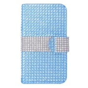 Insten Wallet Leather Diamante Case with Card slot For Nokia Lumia 630/635 - Light Blue