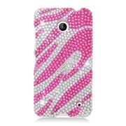 Insten Zebra Hard Diamond Cover Case For Nokia Lumia 630/635 - Pink/White
