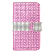 Insten Flip Wallet Leather Rhinestone Case with Card slot For Nokia Lumia 630/635 - Hot Pink