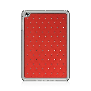 Insten Hard Hybrid TPU Cover Case w/Diamond For Apple iPad Mini 1/2/3/4 - Red/Silver